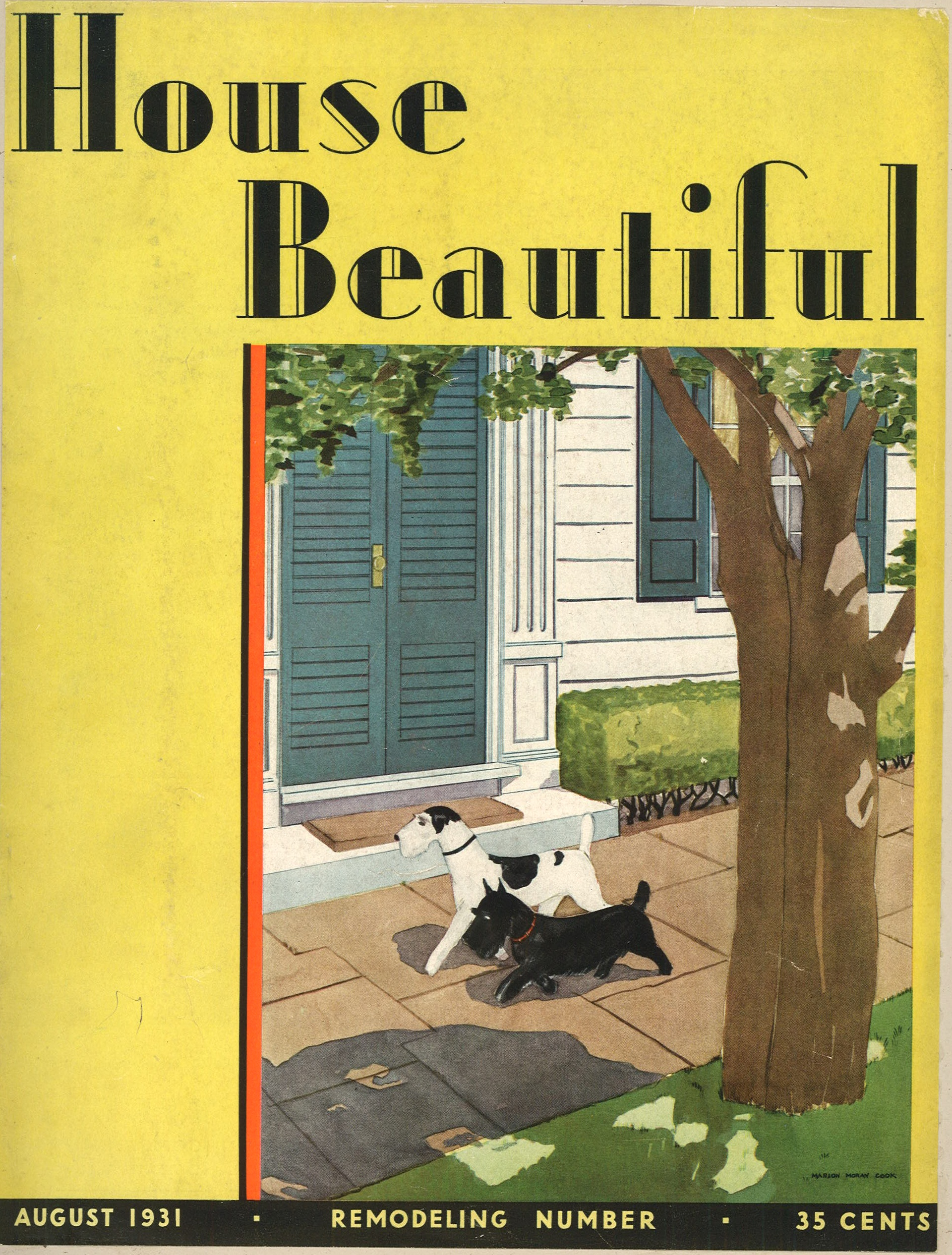 The House Beautiful vintage magazine covers   sva library picture & periodicals
