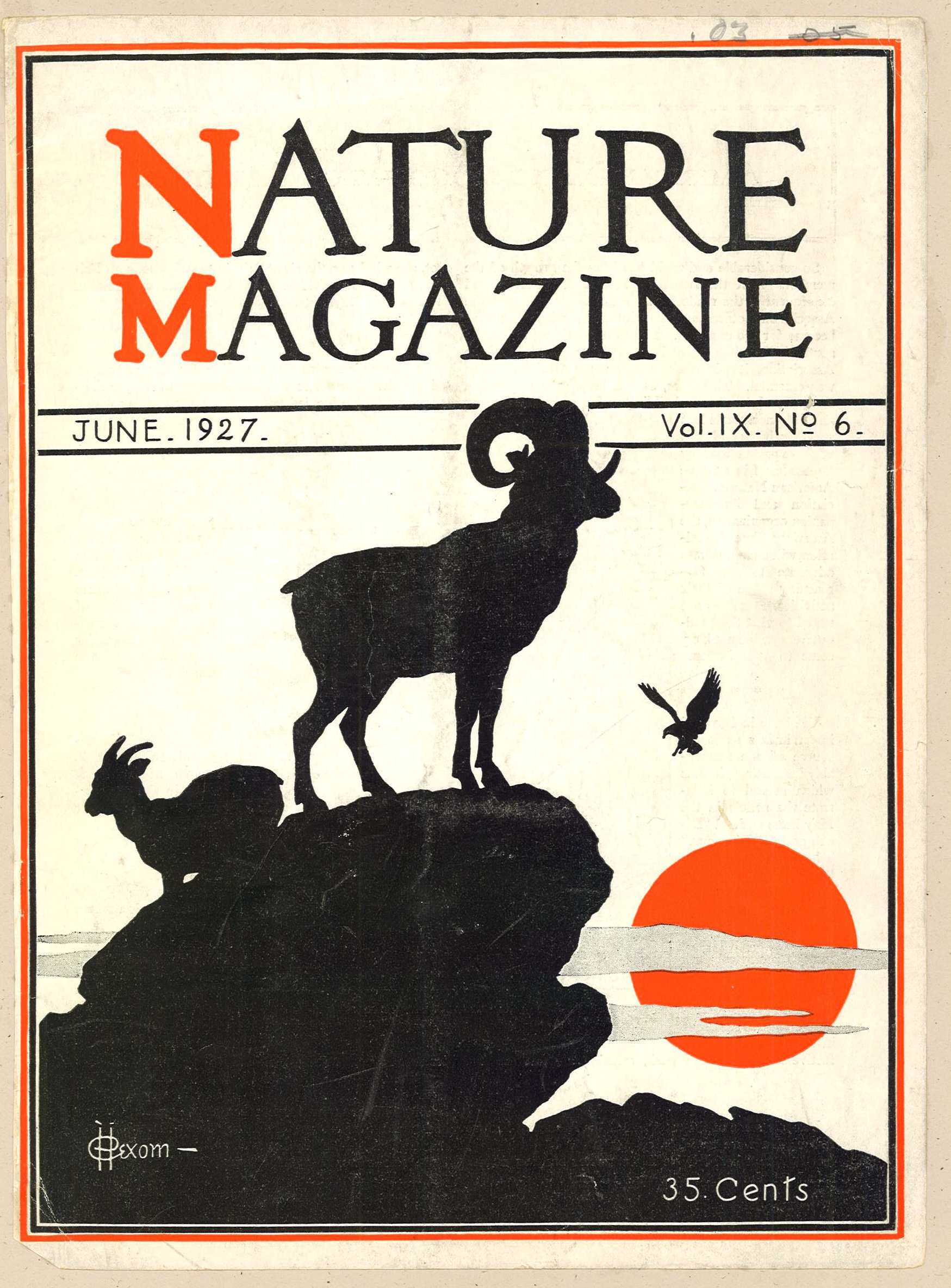 magazine nature 1927 covers 1920 june collections library 1929 silhouettes took auction website information sva periodicals svapicsandmags