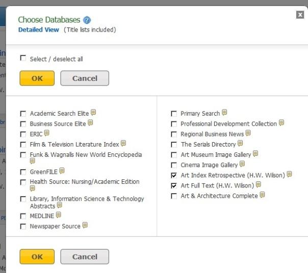 Datebase list page