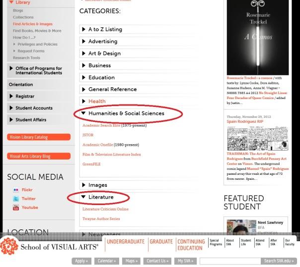 E Resources Page