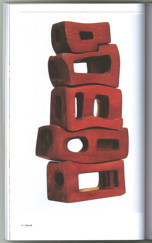 Poem by Saloua Raouda. 1963-5, wood, 33x17x7.5 cm.