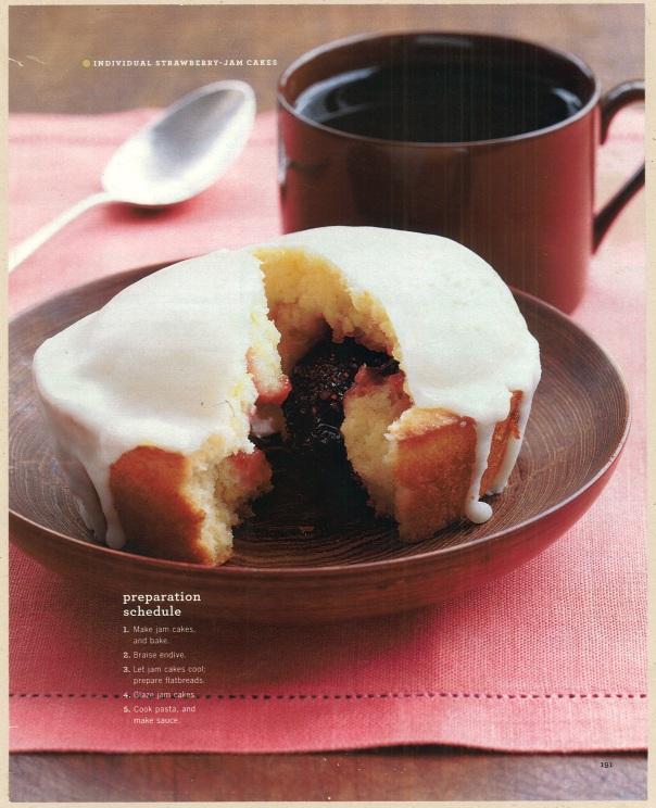 Individual Strawberry Jam Cakes. Martha Stewart Living, November 2003