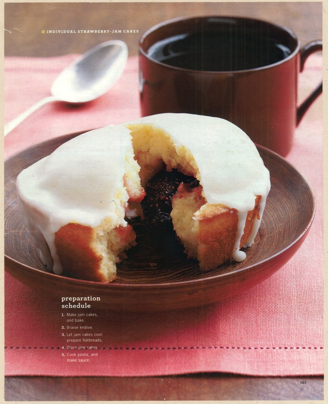 Individual Strawberry Jam Cakes. Martha Stewart Living, November 2003
