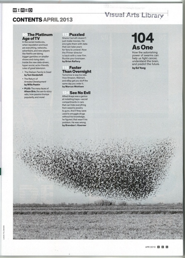 Wired (Apirl 2013) Table of Contents 1