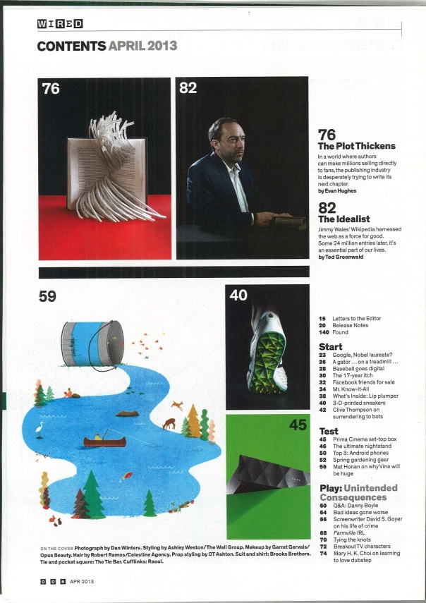 Wired (Apirl 2013) Table of Contents 2
