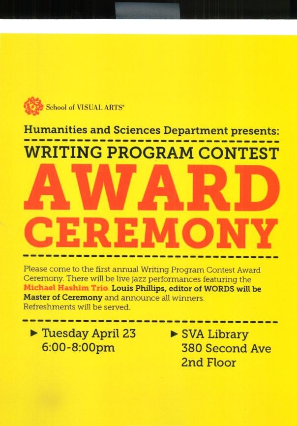 Award Ceramony Flyer