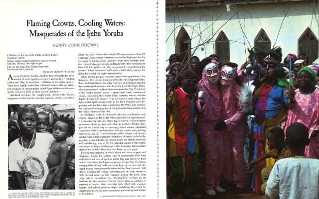 African Arts, Volume XX, Issue Number 01. October 1986.