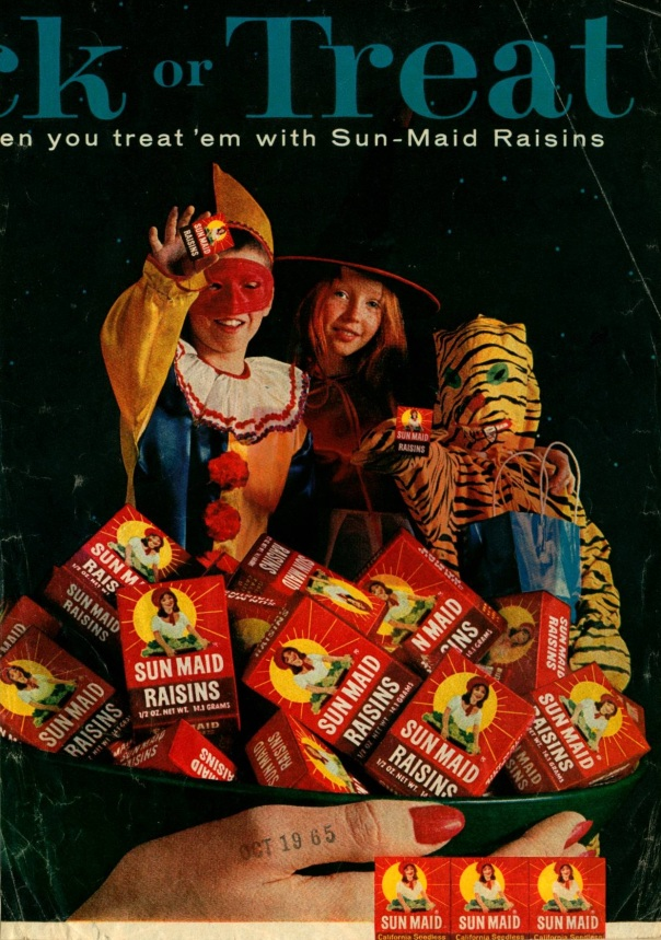 Sun Maid Raisins Advertisement, October 1965.