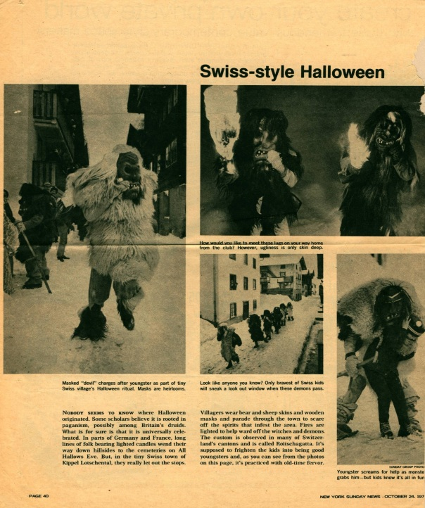 Halloween in Switzerland
