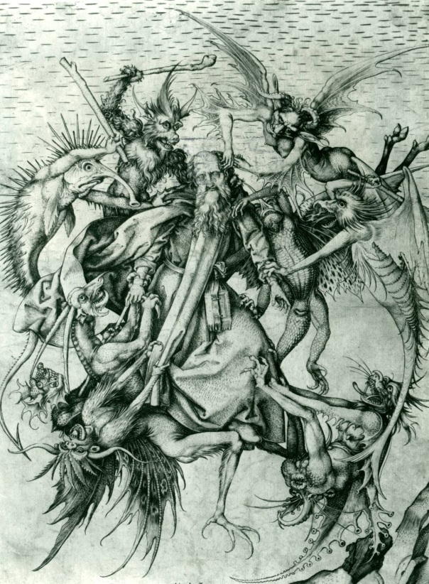 """Saint Anthony Tormented by Demons"" by Martin Schongauer"