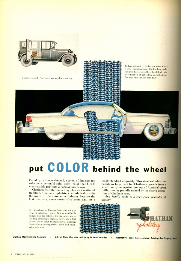 American Fabrics, Number 30. Fall 1954.