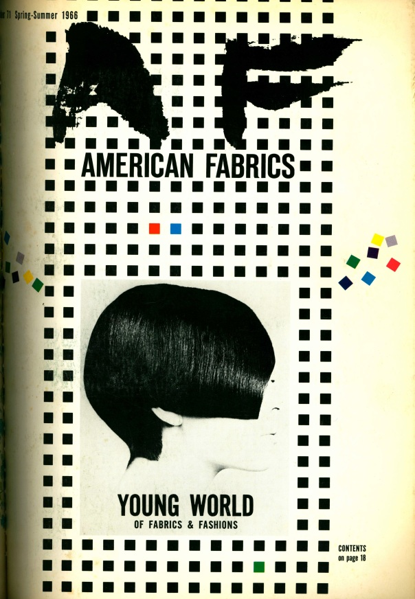 American Fabrics, Number 71. Spring/Summer 1966.