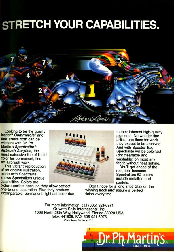 Airbrush Action. September/October 1989.