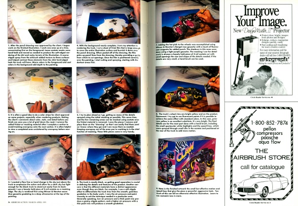 Airbrush Action. March-April 1993.
