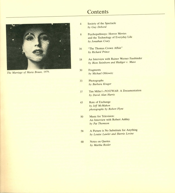 Table of Contents, n. 2.