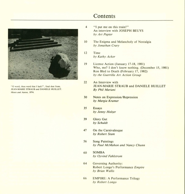 Table of Contents, no. 1.